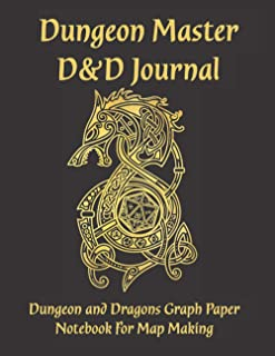 """Dungeon Master D&D Journal: Dungeon and Dragons Graph Paper Notebook for Dungeon and Dragons Map Making   Large 8.5"""" x 11""""..."""