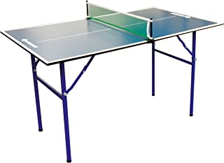 comprar comparacion Donic-Schildkröt 838579 Mesa de Tenis de Mesa Midi XL, 120 x 70 x 68 cm, jardín pequeño o el hogar, Azul