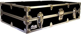 C&N Footlockers College Dorm Room Under Bed - The Slim Lockable Trunk - 32 x 18 x 8.25 Inches