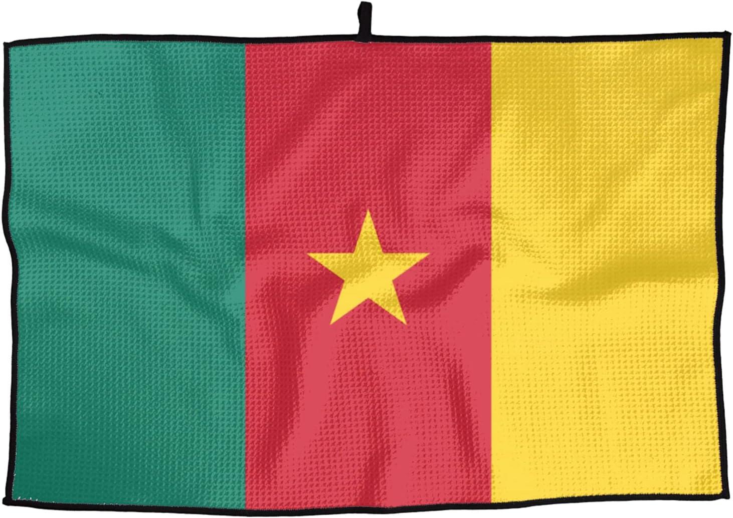 Flag of Cameroon Golf Towel 24 X 15 Inch Soft Microfiber Towel f