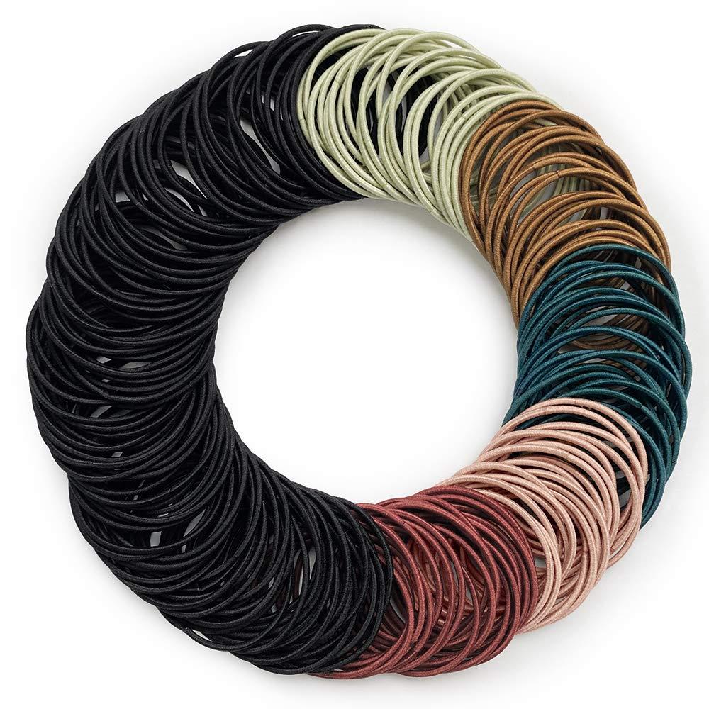 Kavya® Haargummis Mädchen, Mehrfarbig Dünne Haarbänder 200 Stück