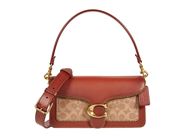COACH Coated Canvas Signature with Beadchain Tabby Shoulder Bag 26