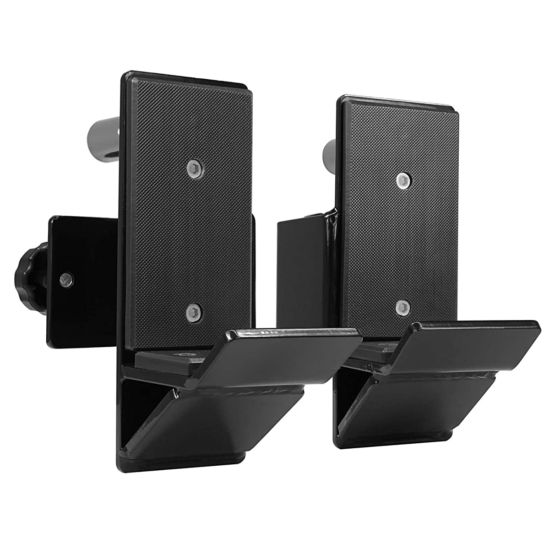 Yes4All J-Hooks Barbell Holder for Power Rack - Fit 2x2, 2x3, 3x3 Square Tube (Pair)