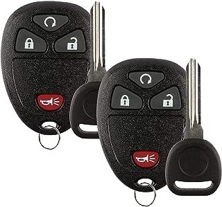 Key Fob Compatible for Chevy Silverado, SaverRemotes Keyless Entry Remote with Ignition Key for Chevy Silverado, Avalanche, Traverse, GMC Sierra, Acadia, Pontiac Torrent, Suzuki XL-7 Key Fob