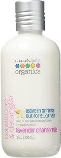 Nature's Baby Organics Conditioner & Detangler, Lavender Chamomile, 8 Fl Oz (Pack of 2)