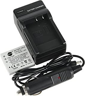 DSTE Replacement for DB-L20 Battery + DC77 Travel and Car Charger Adapter Compatible Sanyo VPC-C40 C5 C6 CA6 CA65 CA8 CA9 CG6 CG65 CG9 E1 E2 E6 E7 S7 Camera