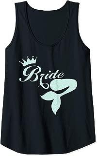 Womens Beach Bride Mermaid Scales Tank Top