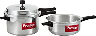 Prestige 2724294146876 2 Pieces Pressure Cooker Set, SilverAluminum