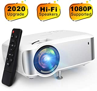 Video Projector, TOPVISION 1080P Supported Ugpraded LED Projector with 4200Lux, 60,000 Hrs Home Movie Projector for Indoor...