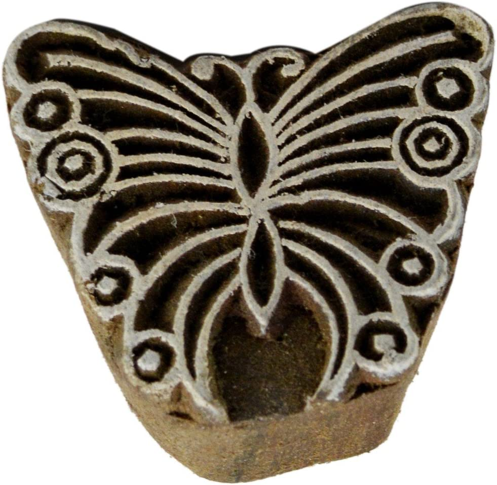 Handmade Butterfly Beauty Ranking TOP4 products Block Print Decor Stamp Wood Home