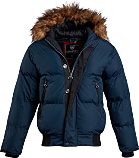 Men's Quilted Insulated Puffer Jacket with Hood