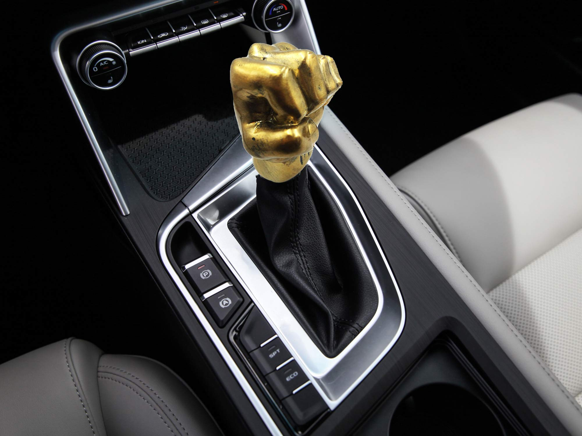 Silver Line Abfer Shift Knob 5 Speed Manual Leather Car Gear Shift Head Shifter Lever Stick