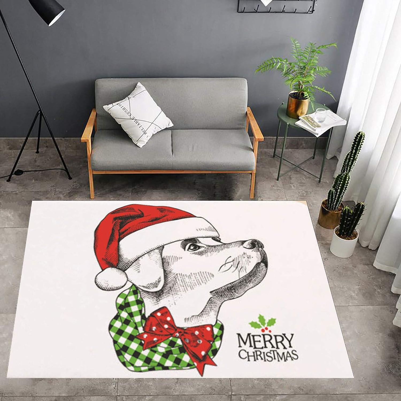 Lee Tulsa Mall My Cartoon Christmas Custom Reindeer Dog Santa Doorm Doormat sold out