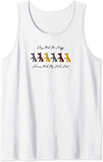 Dogs Make Me Happy Humans Make My Head Hurt Funny Puppy Love Tank Top