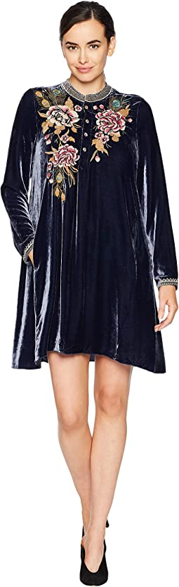 Quito Velvet Trapeze Tunic Dress
