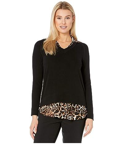 Karen Kane Layered Sweater (Black) Women