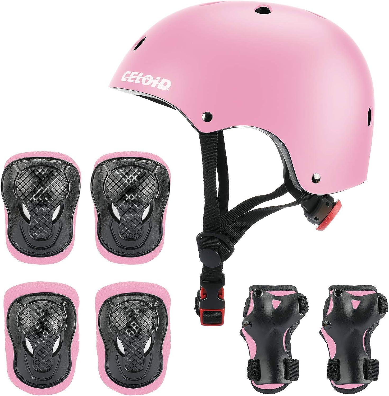 CELOID Kids Helmet Pad Set Complete Free Shipping Adjustable Skateboard discount Helme Bike
