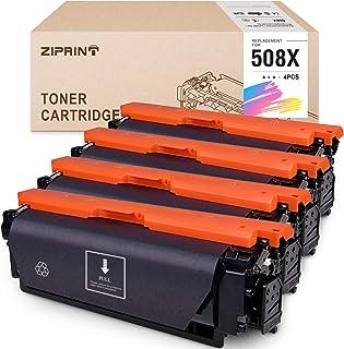 خرطوشة حبر متوافقة مع ZIPRINT لجهاز HP 508X 508A 508 CF360X تستخدم للون Laserjet Enterprise M553 M553n M53dn M553x M552dn ...
