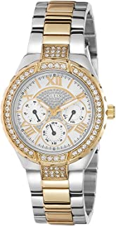 GUESS Women's W0111L5 Sparkling Hi-Energy Silver- And Gold-Tone Watch