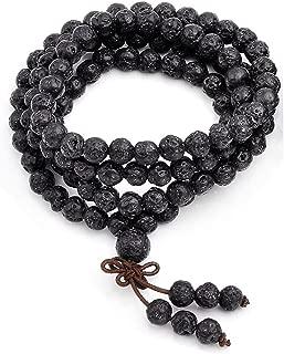 Unisex 108 Natural Gemstone Buddha Prayer Beads Mala Bracelets Buddhist Rosary Necklace