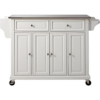 White DESIGNSCAPE3D Bathroom Floor Storage Cabinet with Double Doors Adjustable Shelf
