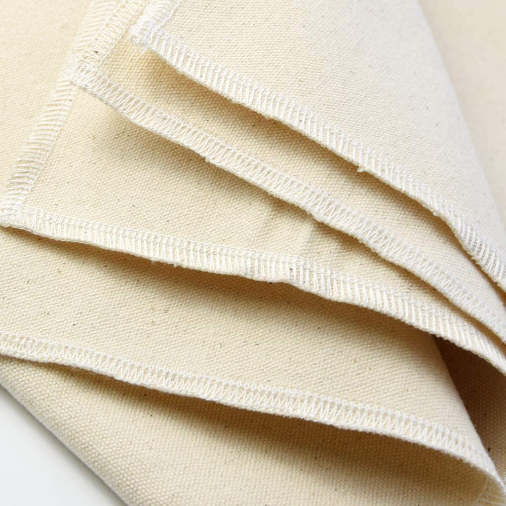 """Jerbro Cotton Pastry Proofing Cloth Bread Baking Equipment for Baking French Bread Baguettes Loafs 35/""""/×26/"""" Professional Bakers Dough Couche"""