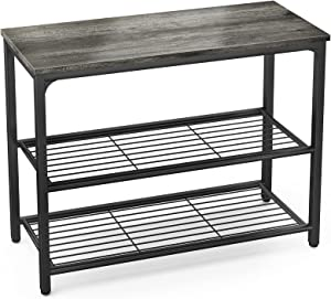 Ecoprsio Sofa Table Console Table with Double Mesh Shelves, Narrow Long Entryway Table Foyer Table for Entryway, Front Hall, Hallway, Sofa, Couch, Living Room, Coffee Bar, Kitchen, Grey