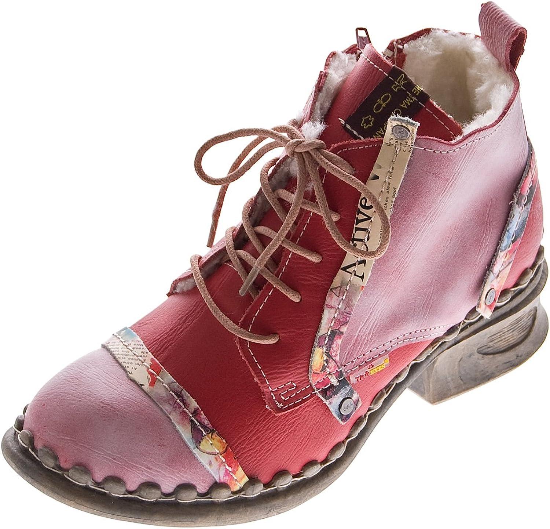 TMA Leder Damen Stiefeletten Comfort Winter Knöchel Schuhe 5355 Blau Schwarz Weiß Rot Stiefel gefüttert    Schön geformt    Hohe Sicherheit    Elegante Und Stabile Verpackung
