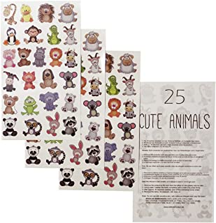 2 x Tier-Kinder Tattoo Bogen - 50 temporary Tiny Cute Animal