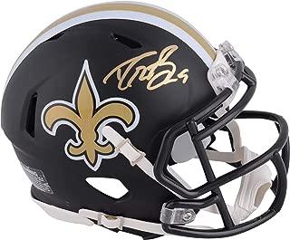 Drew Brees New Orleans Saints Autographed Riddell Black Matte Alternate Speed Mini Helmet - Fanatics Authentic Certified