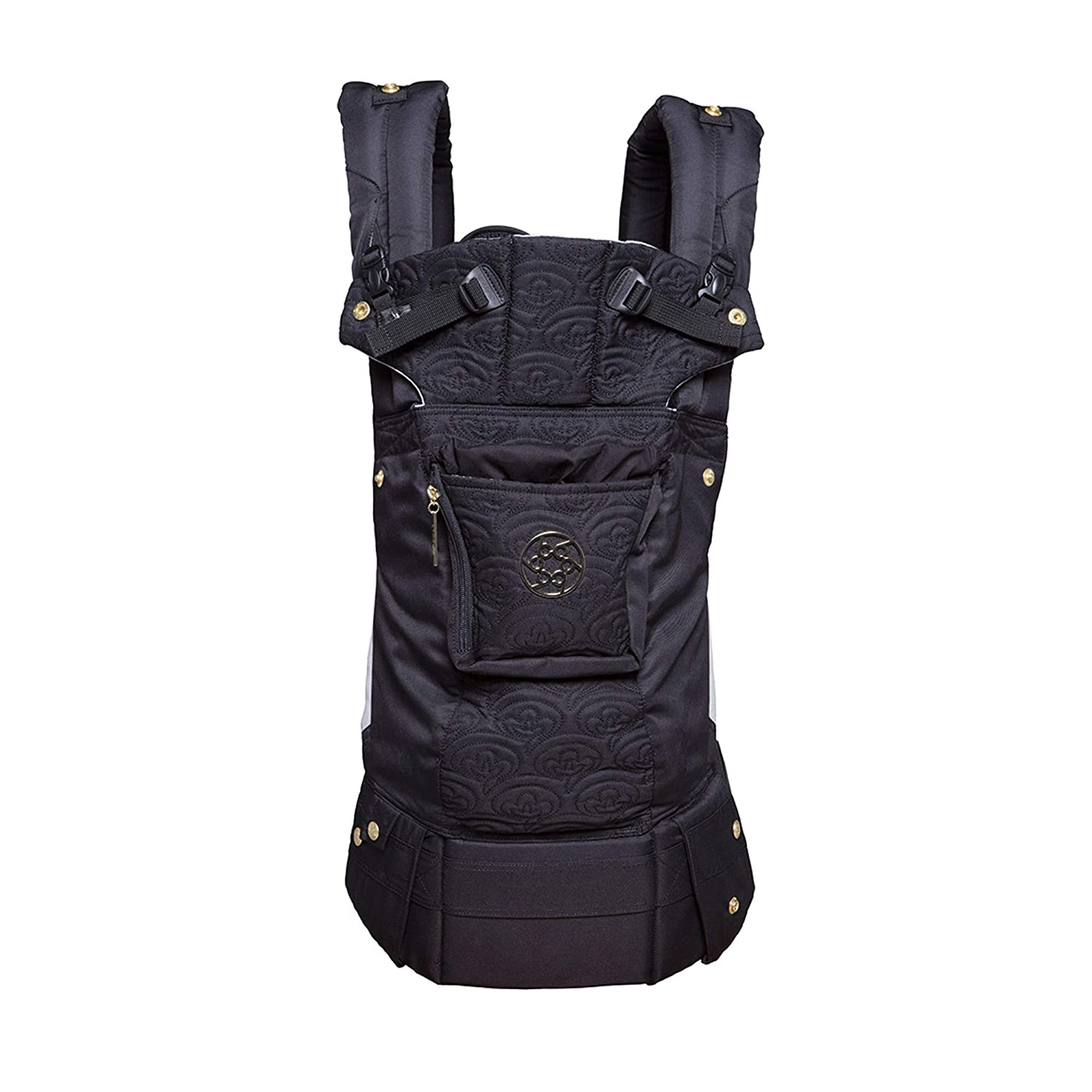 LÍLLÉbaby Complete Embossed Luxe All-Positions 360° Ergonomic Baby and Child Carrier, Noir Black