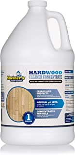 Sheiner's Hardwood Floor Cleaner Concentrate for Deep Cleaning of Wood, Laminate, Natural and Engineered Flooring, pH Neutral, Safe for All Surfaces, 128 Ounce (Makes up to 128 Gallons)