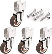 Wielen voor meubels Geovne Caster Wheels, Meubel Caster, Wielen Stofdekking Rubber Heavy Duty Wastors, 18 mm / 20mm / 22mm...