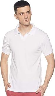 Amazon Brand - Symbol Men's Solid Regular fit Polo T shirt