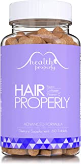 HEALTH PROPERLY Hair Vitamins Now with Collagen | New Formula Scientifically Made for Faster Hair Growth, Radiant Skin & S...