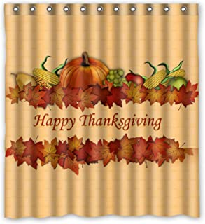 ZHANZZK Happy Thanksgiving day Harvest Festival Waterproof Shower Curtain 66x72 Inches