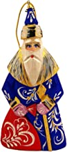 WORLD GIFTS Wooden Russian Santa Claus Father Frost Hand Carved Hand Painted Figurine 4-3/4 Inch Tall