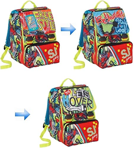 SJ Gang Boy Free Style Rucksack mit FLIP System + gratis Stift + Lesezeichen