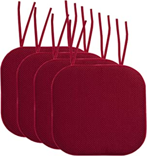 Best purple kitchen chair cushions Reviews
