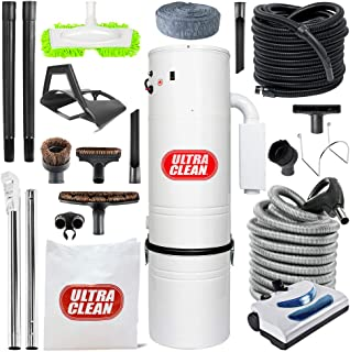 Ultra Clean Top Quality Canadian Made Central Vacuum Unit 7,500 sq. ft. 30' Electric Hose/Powerhead Attachemnets, Garage Kit & Accessories