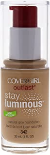 COVERGIRL Outlast Stay Luminous Foundation Medium Beige 842, 1 oz (packaging may vary)