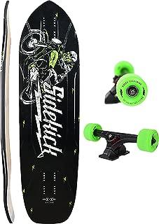 Moonshine MFG Sidekick 2018 Complete Skateboard Longboard -9.3x35 Black/Gn