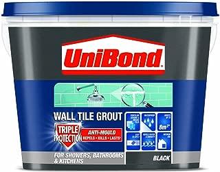 UniBond Triple Protect Anti-Mould Wall Tile Grout - 1.38KG, Black
