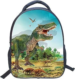 Jubang Mochila para Niños Mochila Escolar con Patrones de Dinosaurio Mochila Infantil para Escuela Primaria Mochilas Casua...