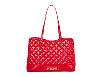 LOVE Moschino Shinny Quilted Bag (Red) Handbags