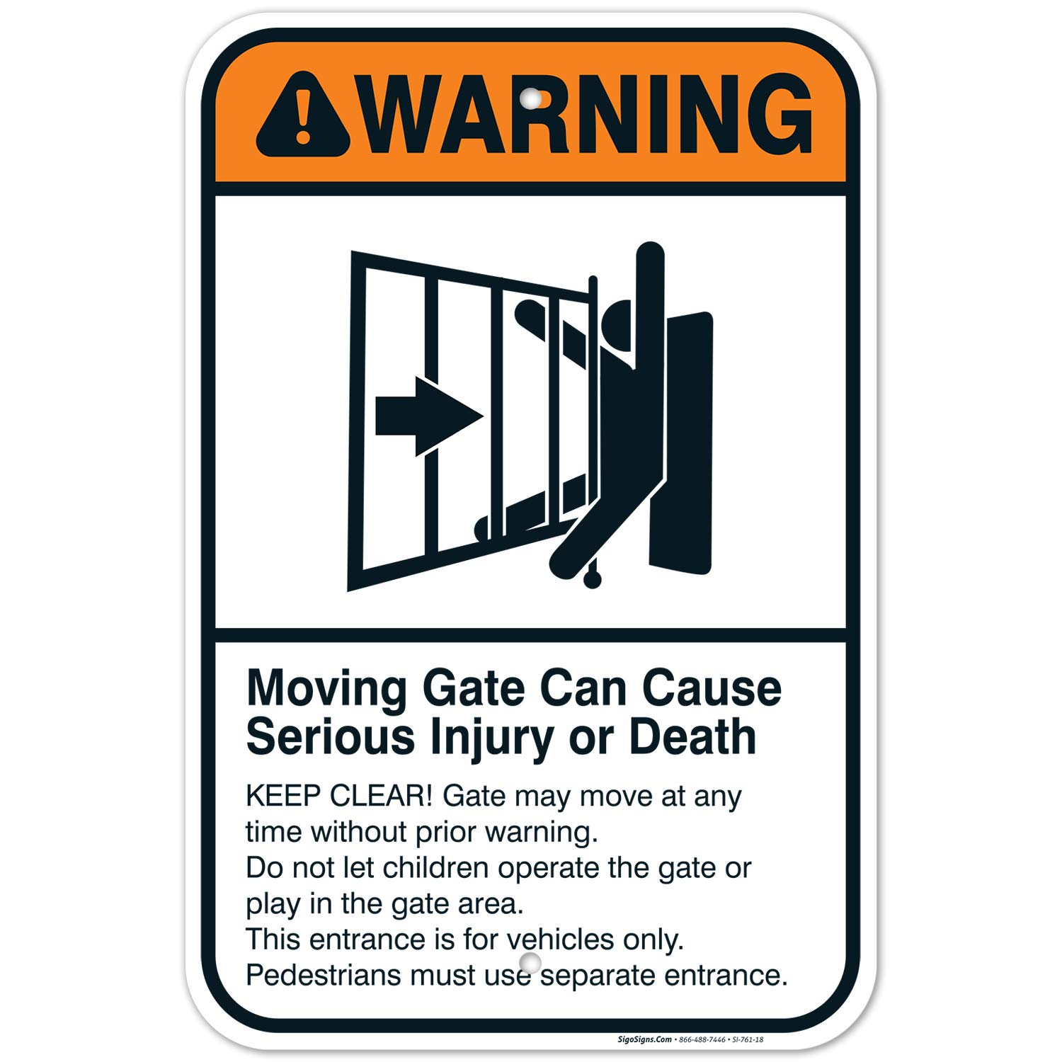 overseas Moving Gate Sign Can Cause Serious or Death Injury Ranking TOP15