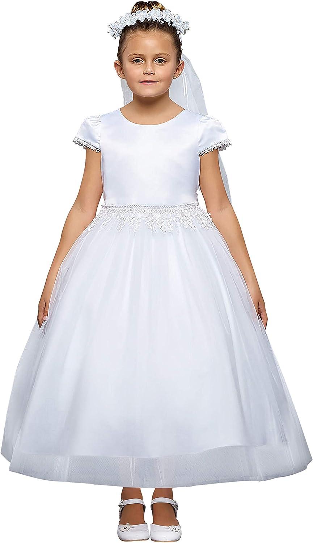 iGirlDress White Flower Girl First Bir Max 46% Popular product OFF Wedding Pageant Communion