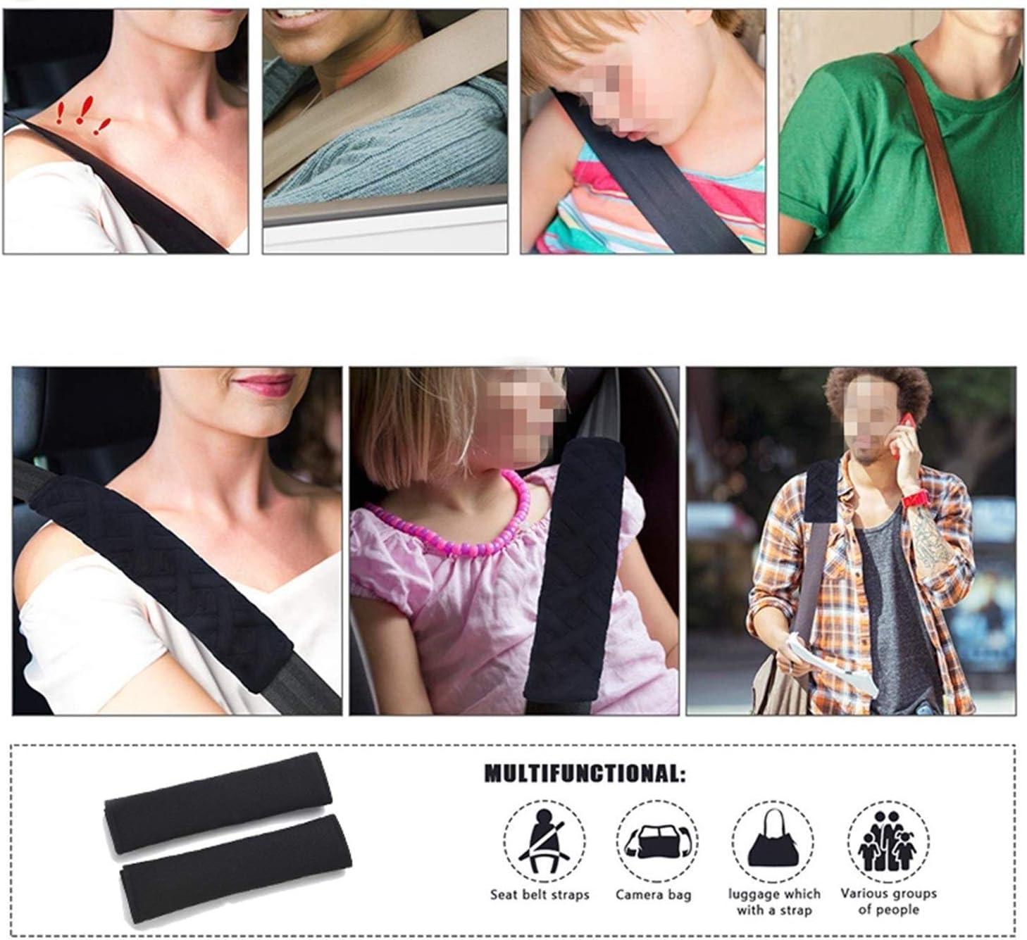 Sicherheitsgurtpolster F/ür Autos Farbe : Blau, Gr/ö/ße : 1pc Sicherheitsgurtschutz YZJC Schultergurt Aus 100/% Baumwolle F/ür Alle Autos Geeignet
