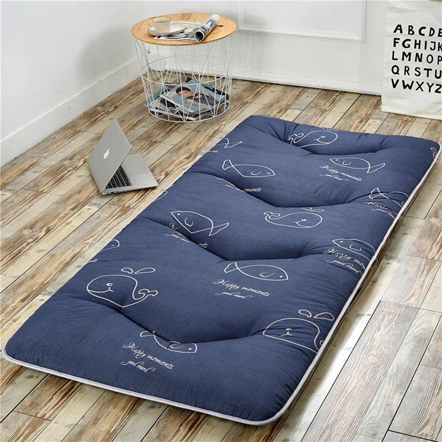 Folding Tatami Floor mat,Portable Sleeping pad Queen-King Traditional Japanese futon Washable-B 90x200cm(35x79inch)