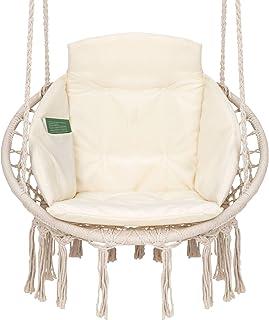 VITA5 Fotel wiszący z poduszkami, schowkiem na książki i